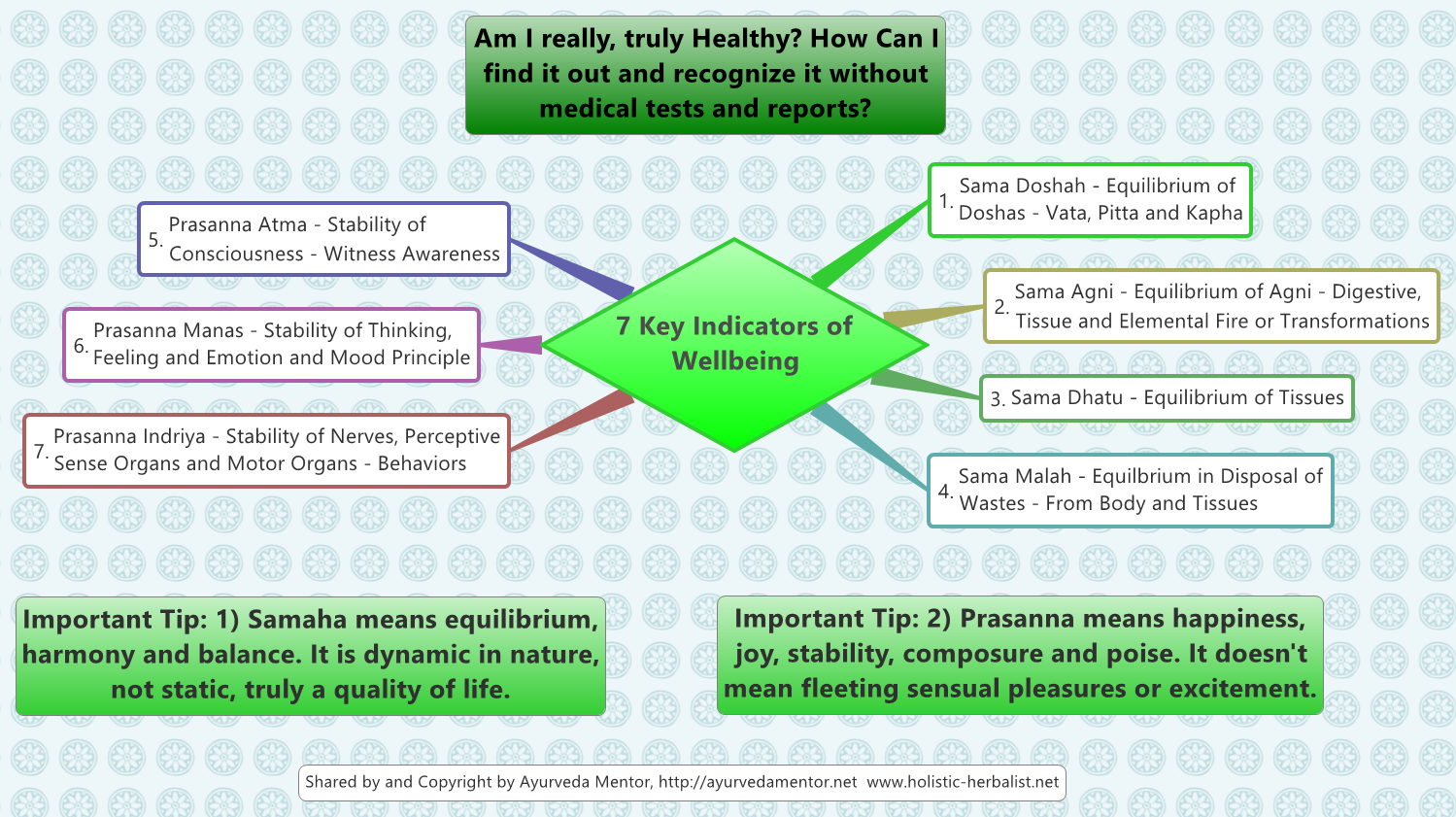 7 Key Indicators of Health and Wellbeing in Ayurveda